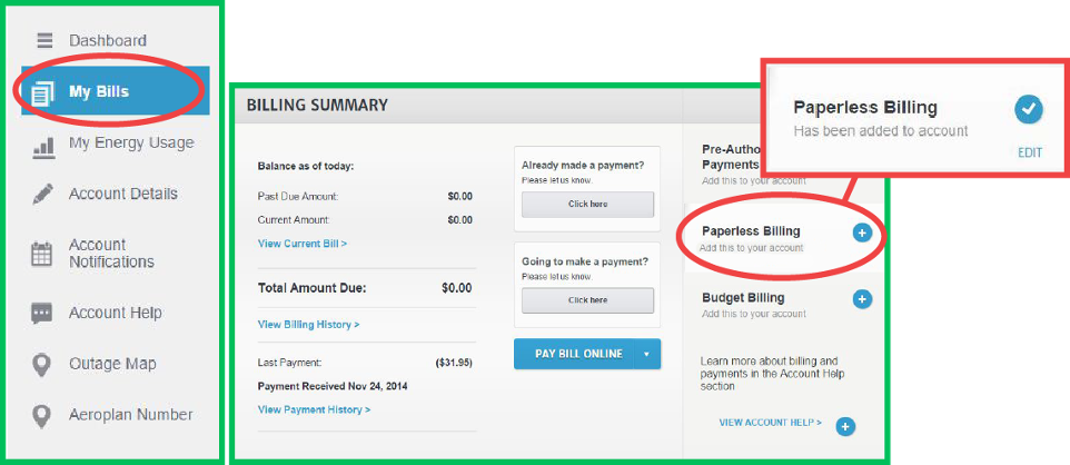 Adding Paperless Billing to your MyLondonHydro Account