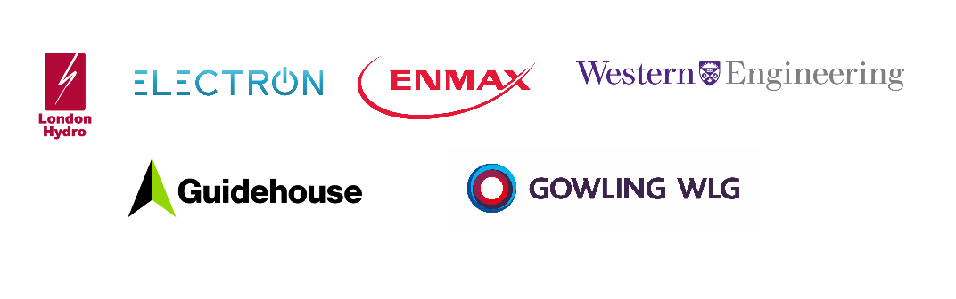 Partner Logos, including London Hydro, Electron, Enmax, Western University Engineering, Guidehouse and Gowling WLG